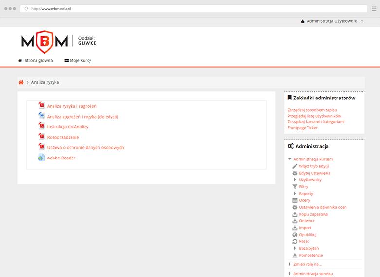 Platforma szkoleniowa MBM